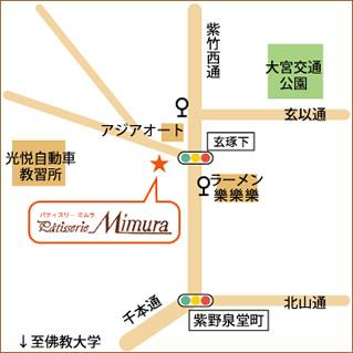パティスリーミムラ地図