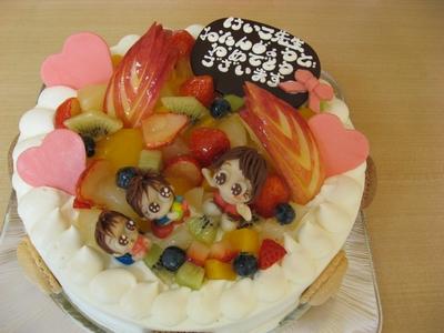 マジパン人形ケーキ